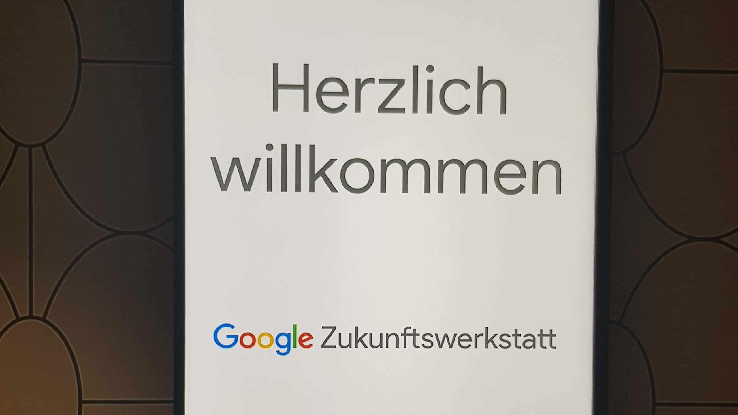 Eingang Google Zukunftwerkstatt München